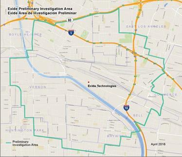 Exide Cleanup Map