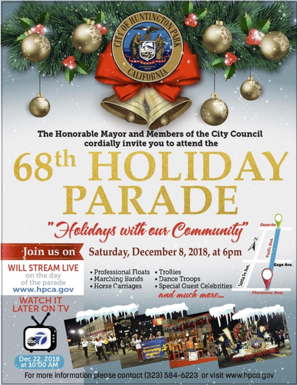 Huntington Park Christmas Parade 2020 December 2018 Newsletter | Official Website   Assemblymember