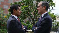 Asm. Santiago and Mayor Garcetti